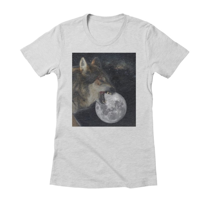 Fenrir Women's Fitted T-Shirt by Mind-art Passion