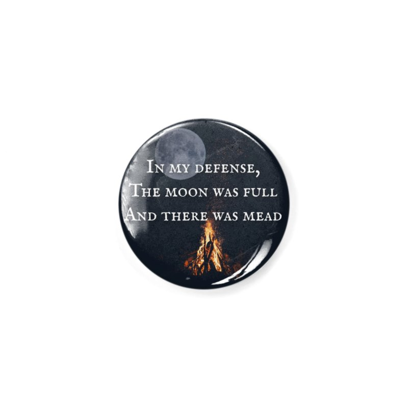 Full Moon Funny Accessories Button by Mind-art Passion