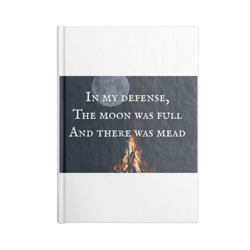Full Moon Funny Accessories Notebook by Mind-art Passion