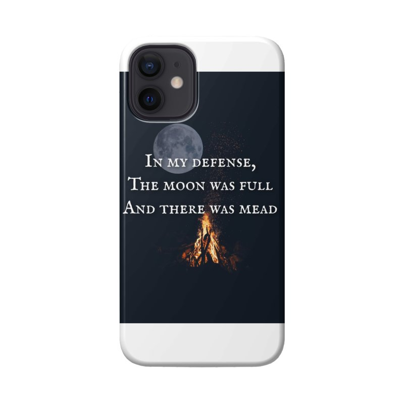 Full Moon Funny Accessories Phone Case by Mind-art Passion