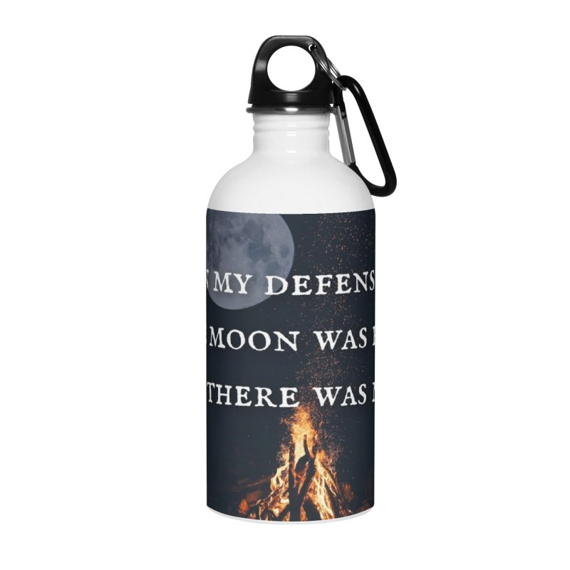 Full Moon Funny Accessories Water Bottle by Mind-art Passion