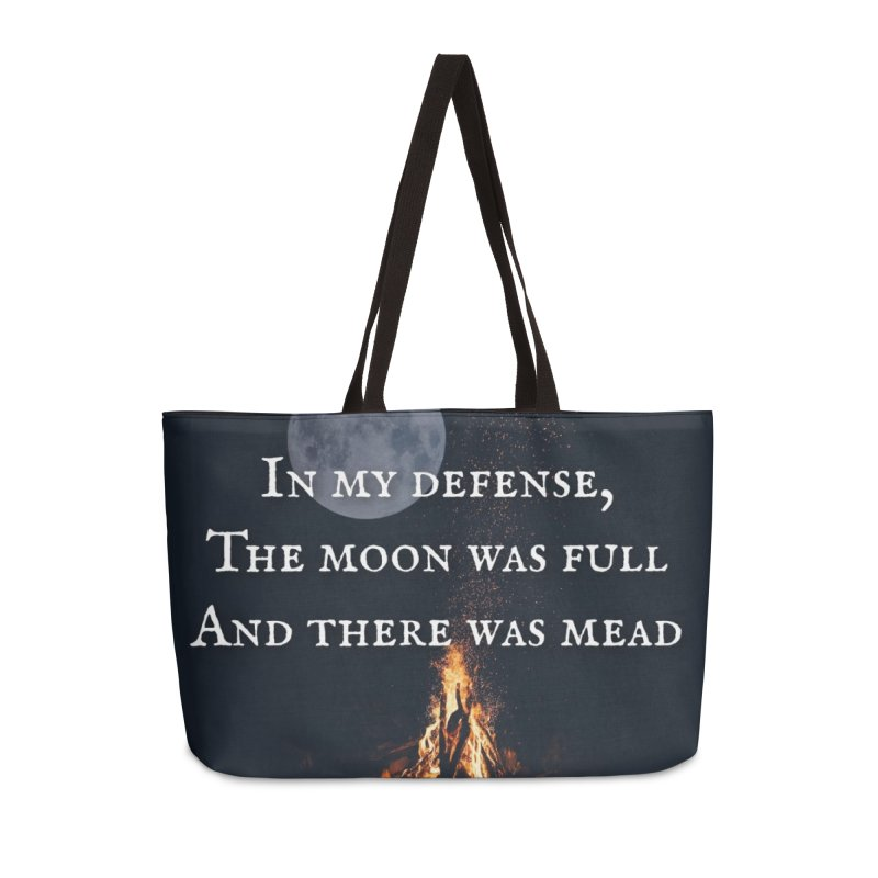 Full Moon Funny Accessories Bag by Mind-art Passion