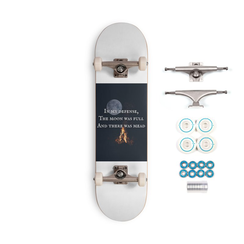 Full Moon Funny Accessories Skateboard by Mind-art Passion