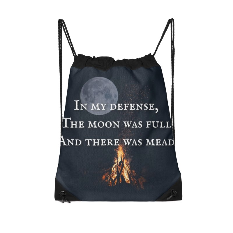 Full Moon Funny Accessories Drawstring Bag Bag by Mind-art Passion