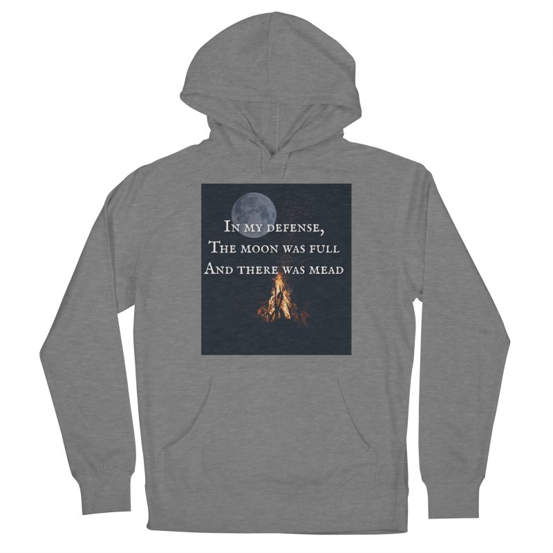 Full Moon Funny Men's Pullover Hoody by Mind-art Passion