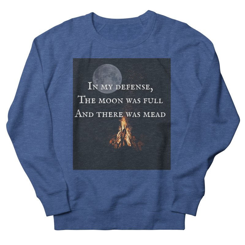 Full Moon Funny Women's French Terry Sweatshirt by Mind-art Passion