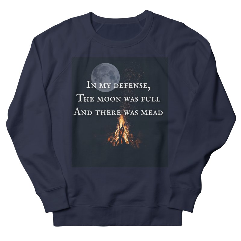Full Moon Funny Men's French Terry Sweatshirt by Mind-art Passion