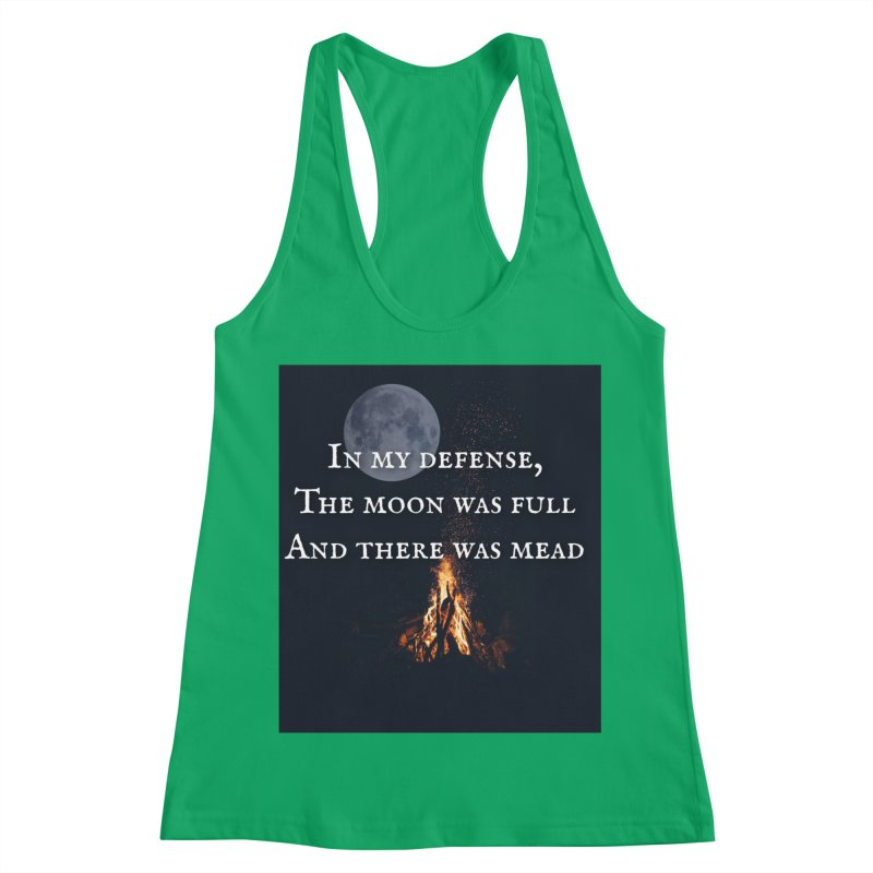 Full Moon Funny Women's Racerback Tank by Mind-art Passion