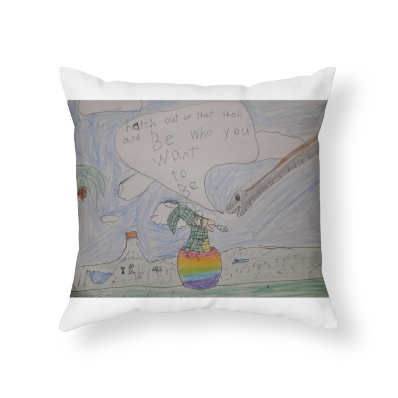 Break out with Pride Home Throw Pillow by Mind-art Passion