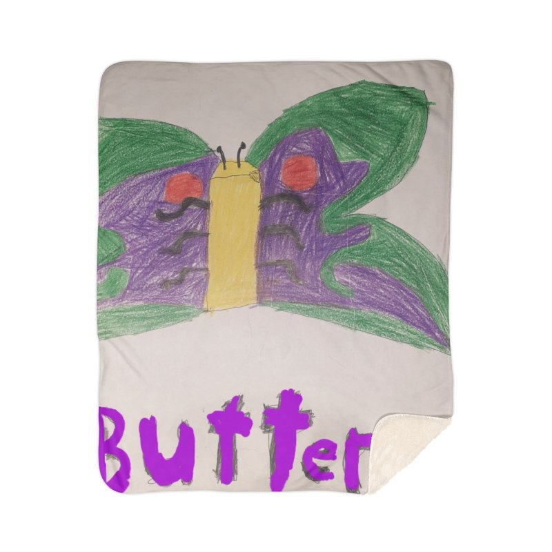 BUTTERfly Home Blanket by Mind-art Passion