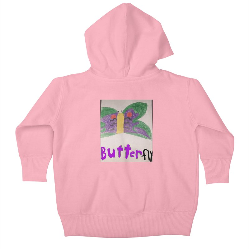 BUTTERfly Kids Baby Zip-Up Hoody by Mind-art Passion