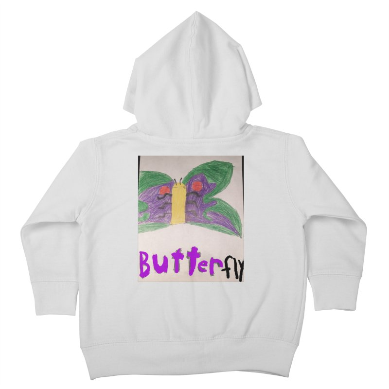 BUTTERfly Kids Toddler Zip-Up Hoody by Mind-art Passion