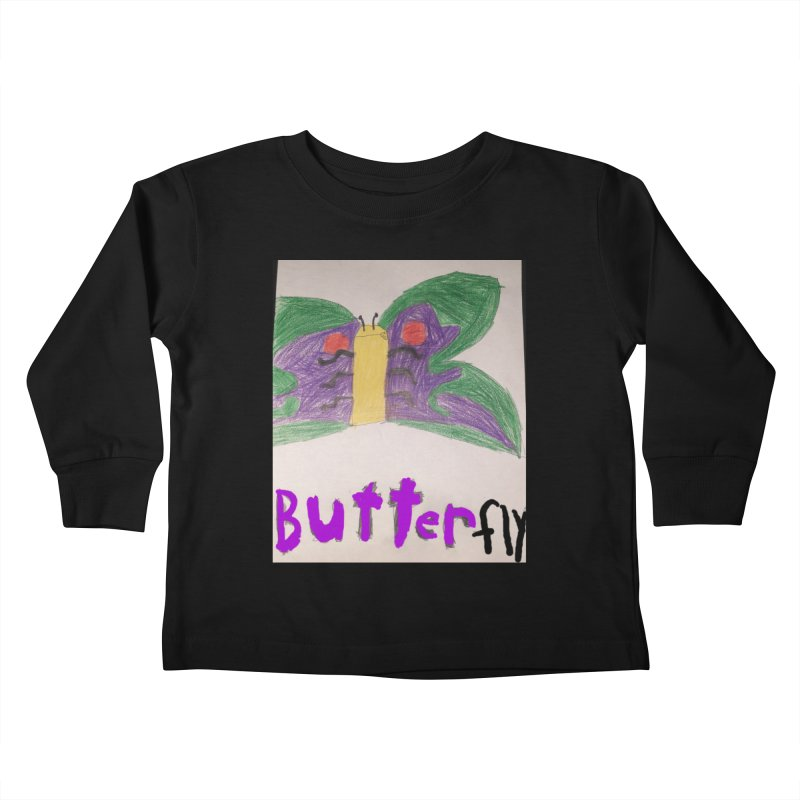 BUTTERfly Kids Toddler Longsleeve T-Shirt by Mind-art Passion
