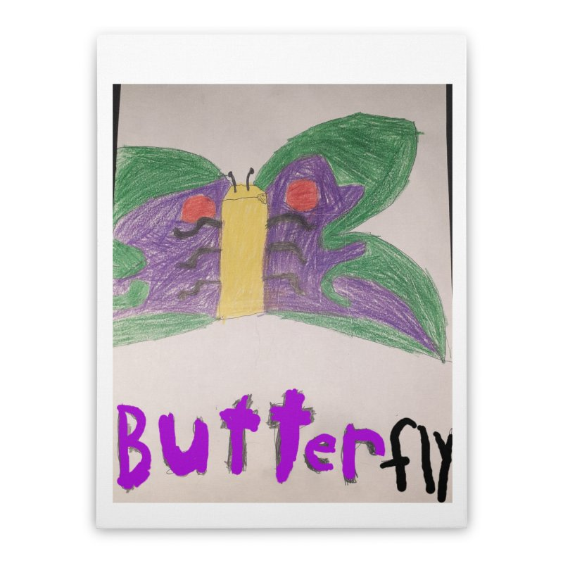 BUTTERfly Home Stretched Canvas by Mind-art Passion