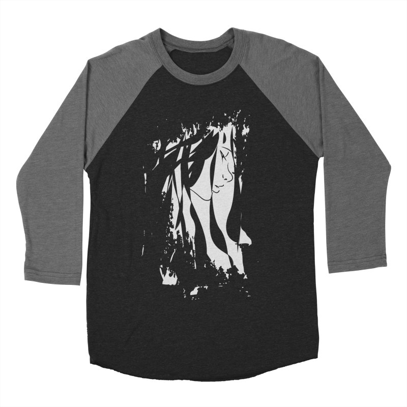 Heather Grey Men's Baseball Triblend Longsleeve T-Shirt by The Mindful Tee