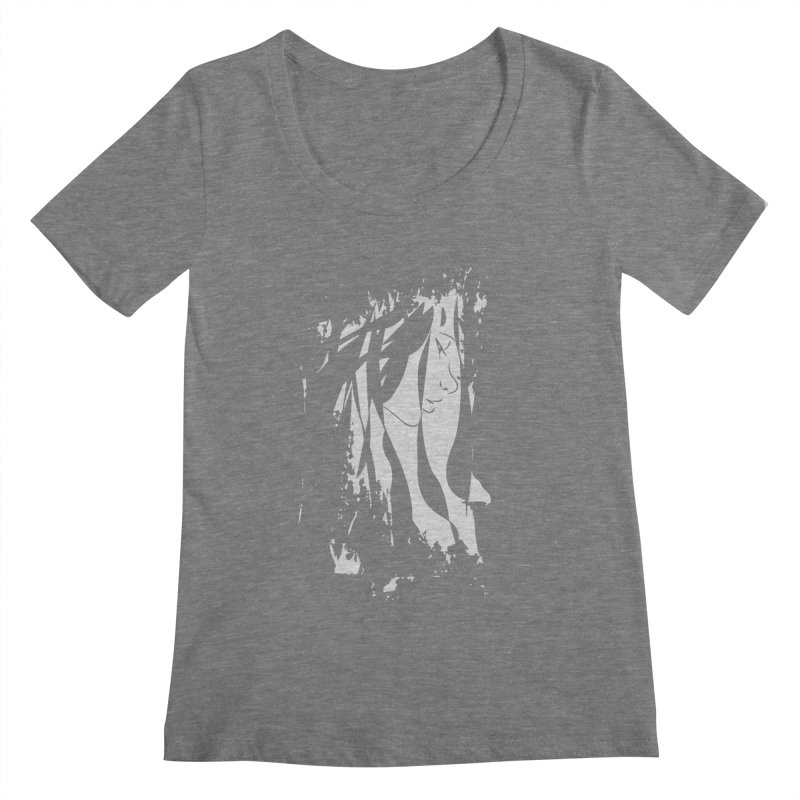 Heather Grey Women's Scoopneck by The Mindful Tee