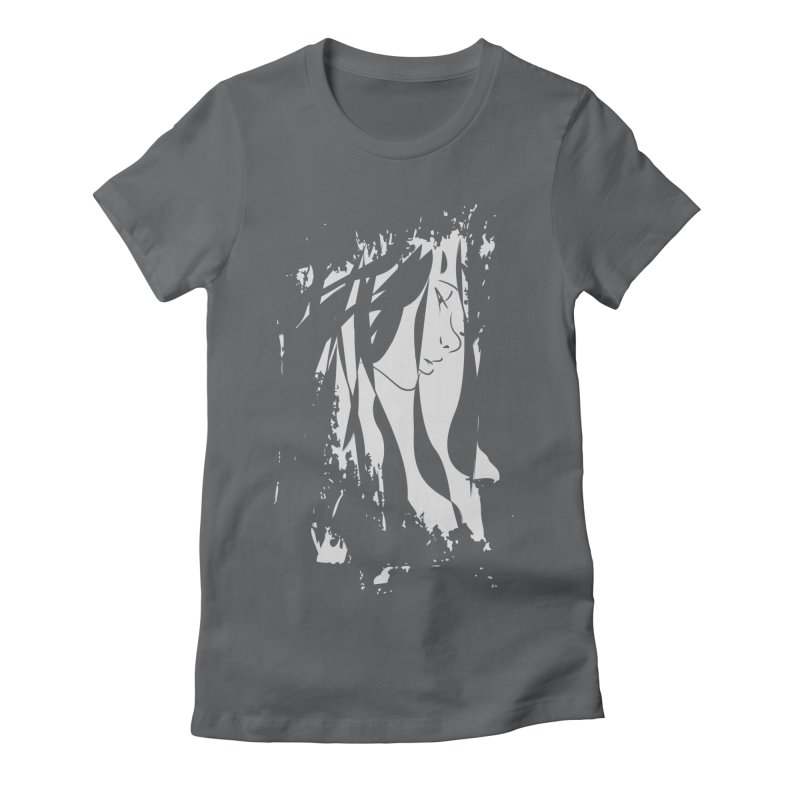 Heather Grey Women's Fitted T-Shirt by The Mindful Tee