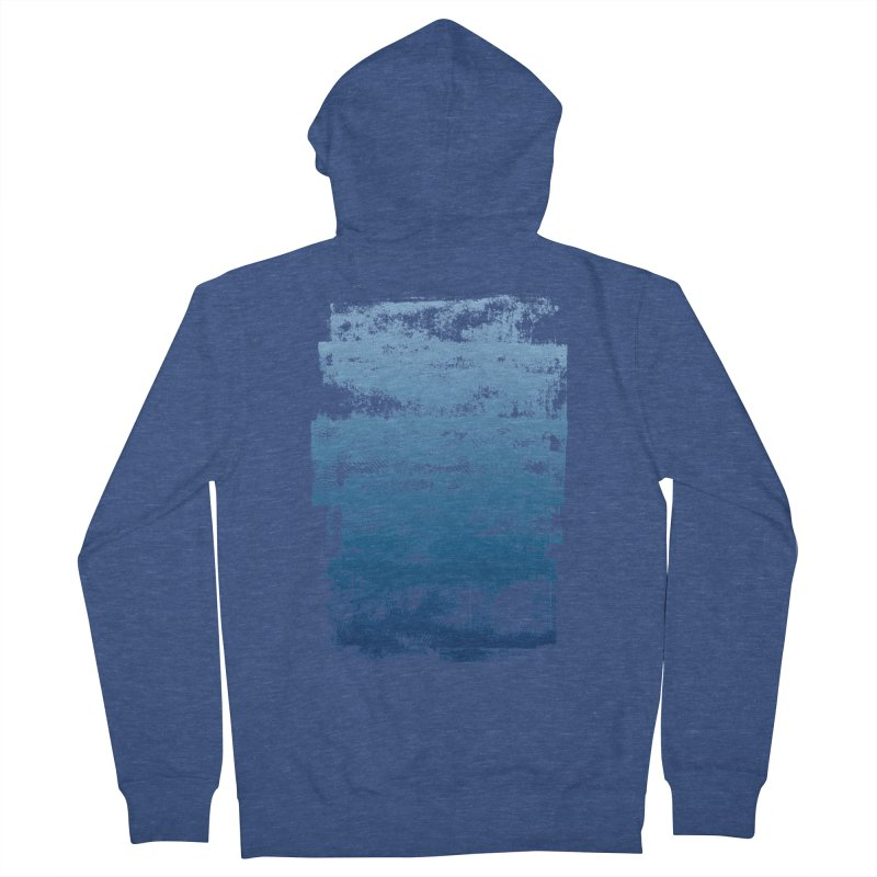 Rubber Blue Men's French Terry Zip-Up Hoody by The Mindful Tee