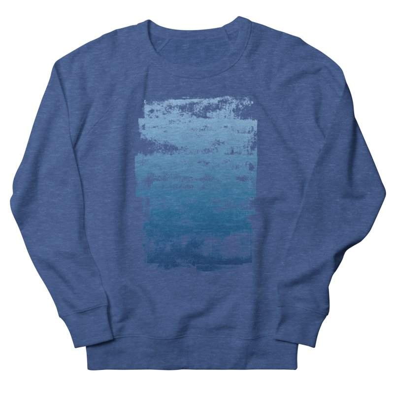 Rubber Blue Men's French Terry Sweatshirt by The Mindful Tee