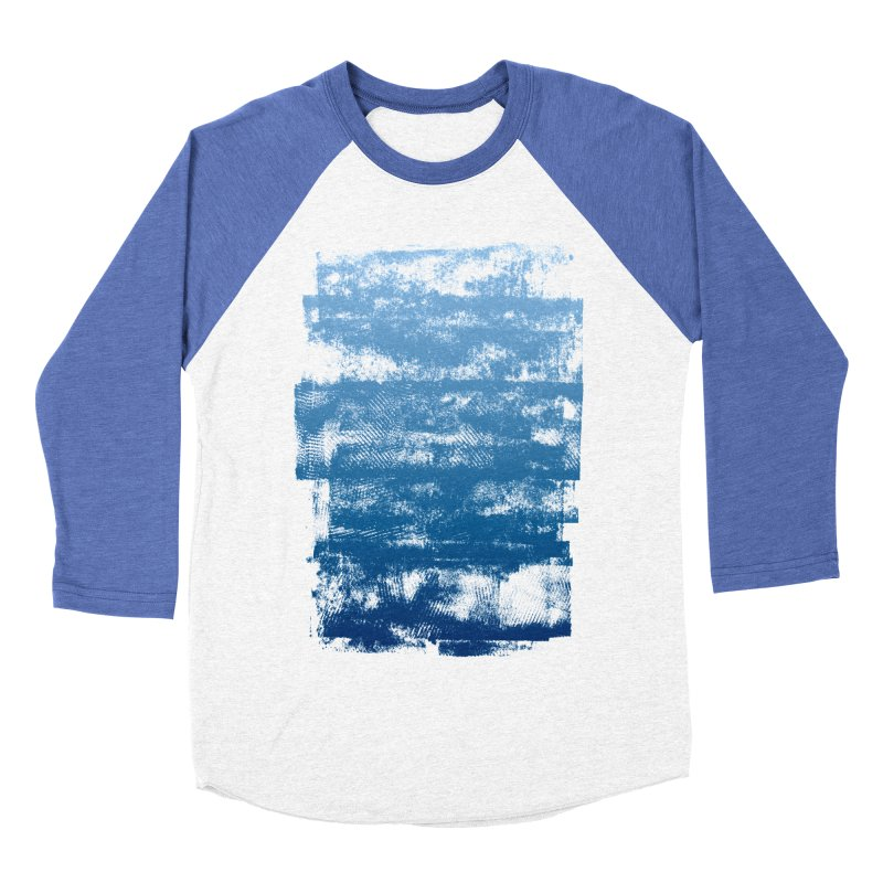 Rubber Blue Women's Baseball Triblend Longsleeve T-Shirt by The Mindful Tee
