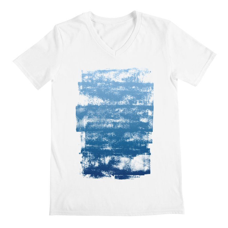 Rubber Blue Men's V-Neck by The Mindful Tee