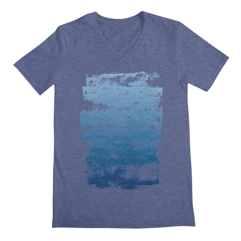 Rubber Blue Men's Regular V-Neck by The Mindful Tee