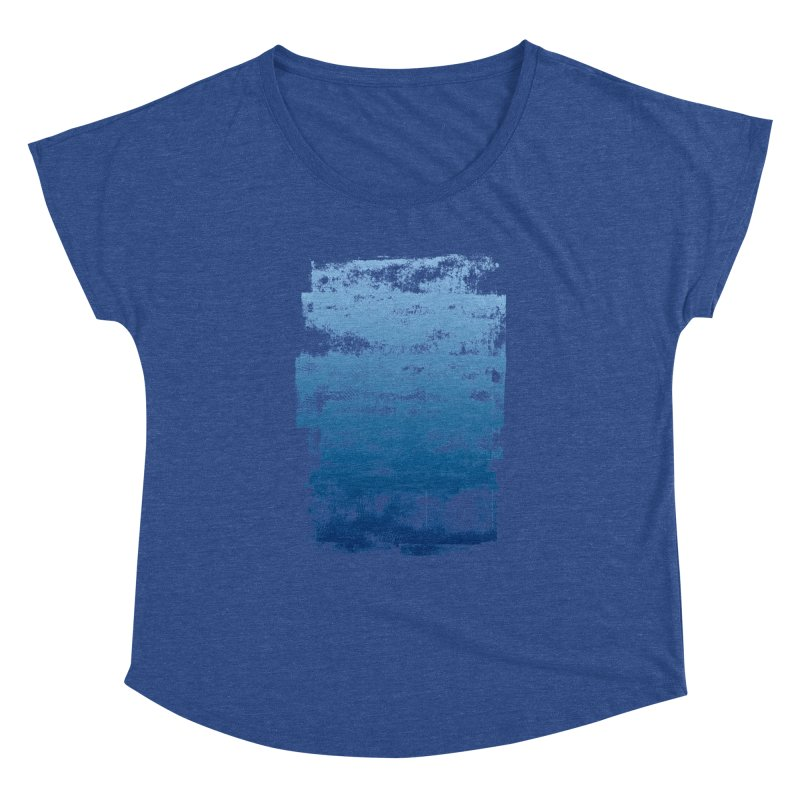 Rubber Blue Women's Dolman Scoop Neck by The Mindful Tee