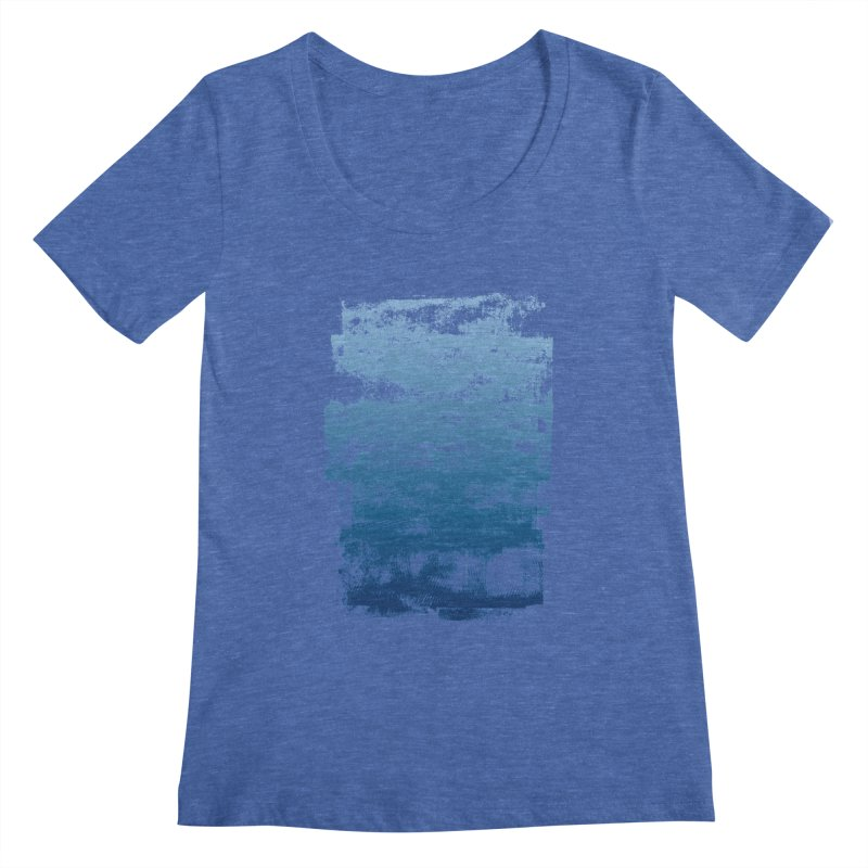 Rubber Blue Women's Regular Scoop Neck by The Mindful Tee