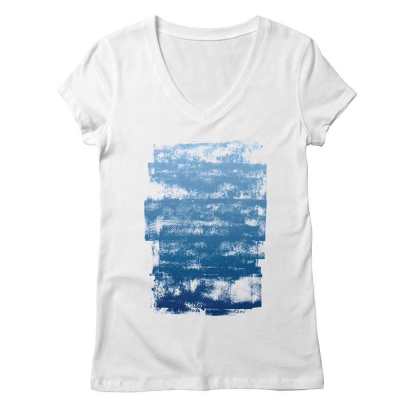 Rubber Blue Women's Regular V-Neck by The Mindful Tee