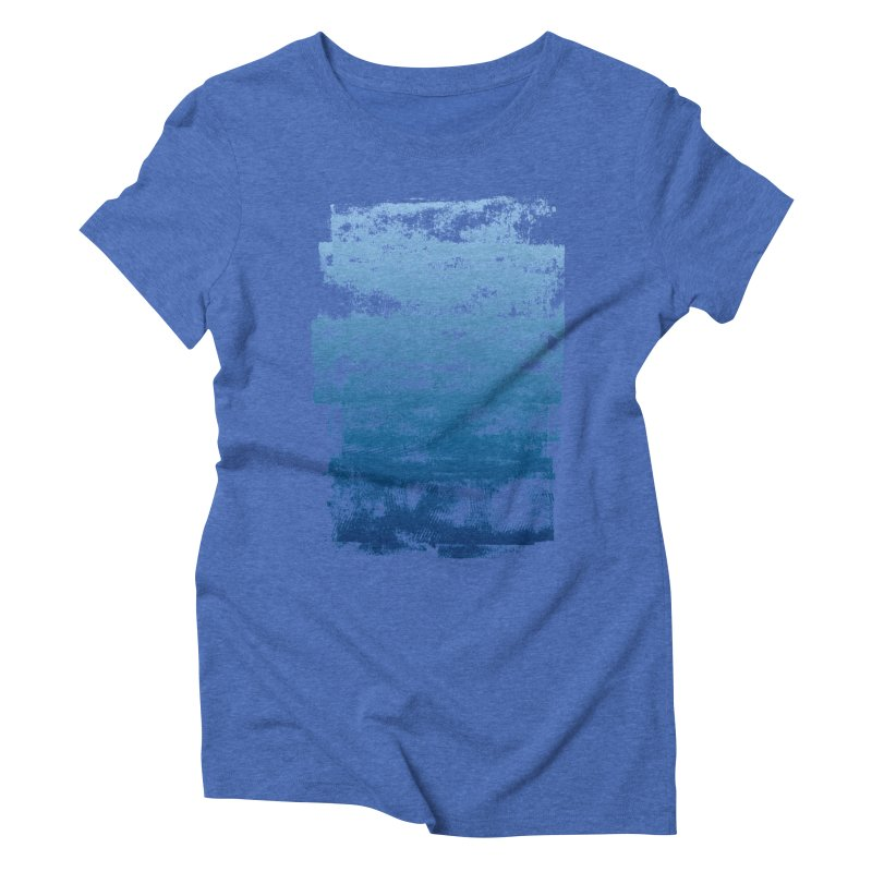 Rubber Blue in Women's Triblend T-Shirt Blue Triblend by The Mindful Tee