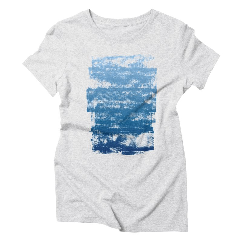 Rubber Blue Women's Triblend T-Shirt by The Mindful Tee