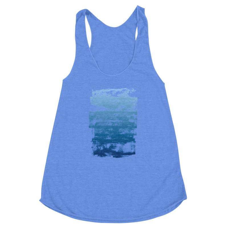 Rubber Blue Women's Racerback Triblend Tank by The Mindful Tee