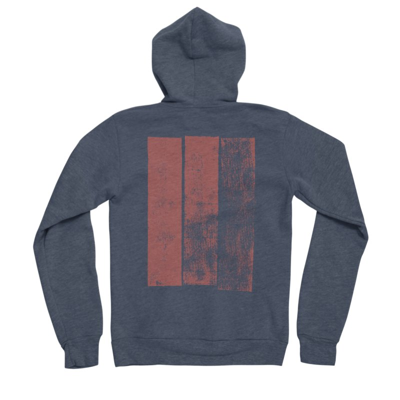 Stripes Men's Sponge Fleece Zip-Up Hoody by The Mindful Tee