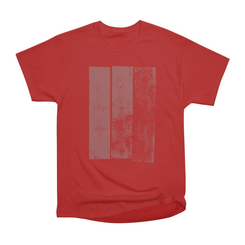 Stripes in Men's Classic T-Shirt Red by The Mindful Tee