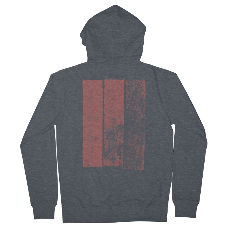 Stripes Men's French Terry Zip-Up Hoody by The Mindful Tee