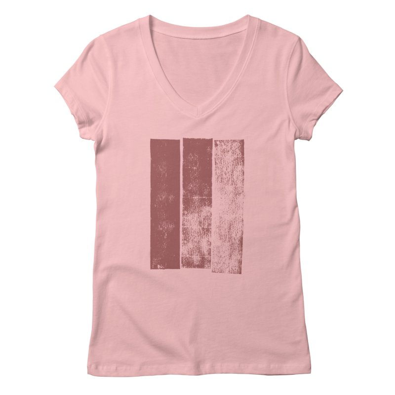Stripes Women's V-Neck by The Mindful Tee