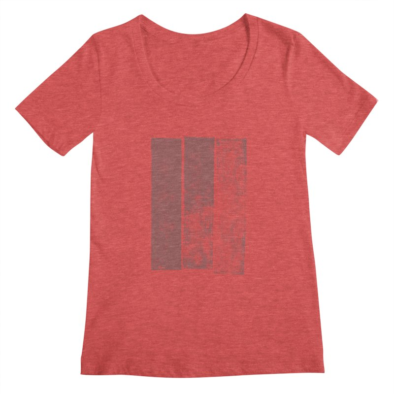 Stripes Women's Scoopneck by The Mindful Tee