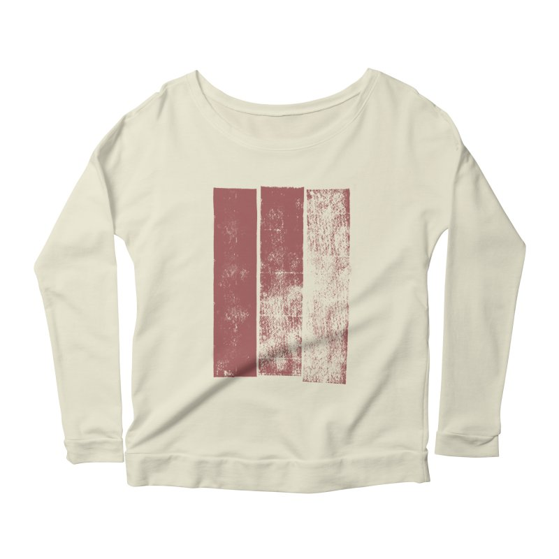 Stripes Women's Longsleeve Scoopneck  by The Mindful Tee
