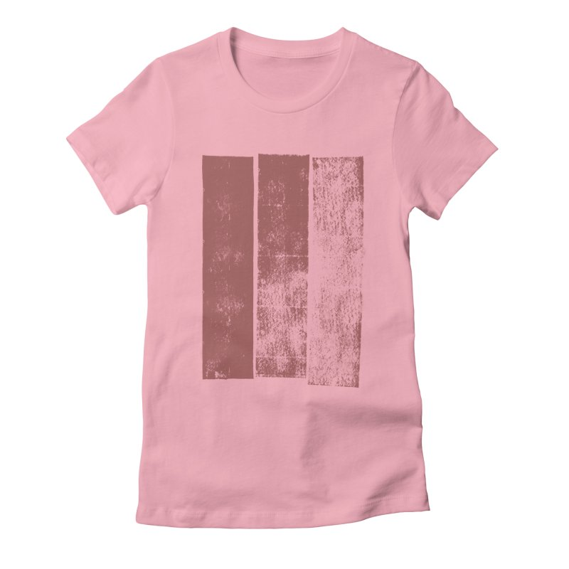 Stripes Women's Fitted T-Shirt by The Mindful Tee