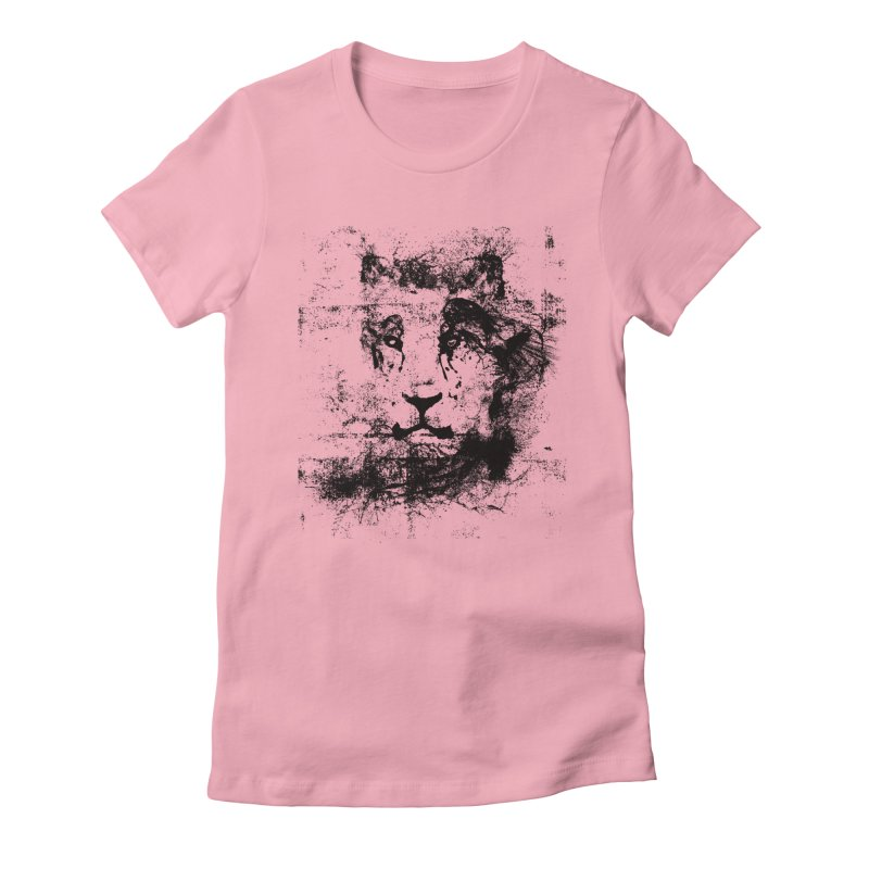 Ink Lion | On Sale!  ➔ Women's Fitted T-Shirt by The Mindful Tee