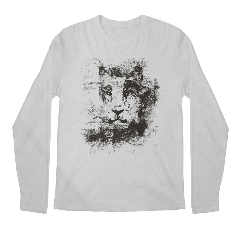 Ink Lion | On Sale!  ➔ in Men's Regular Longsleeve T-Shirt Heather Grey by The Mindful Tee