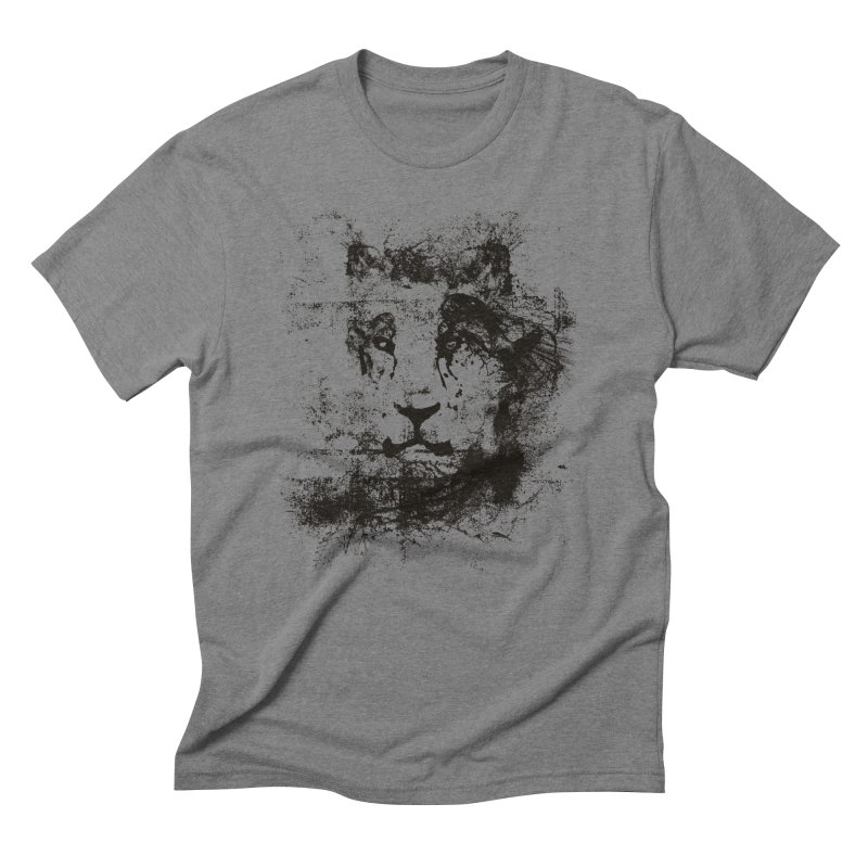Ink Lion | On Sale!  ➔ in Men's Triblend T-Shirt Grey Triblend by The Mindful Tee