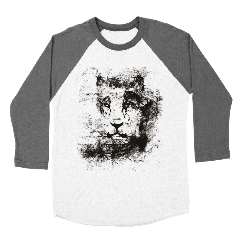 Ink Lion | On Sale!  ➔ in Men's Baseball Triblend Longsleeve T-Shirt Tri-Grey Sleeves by The Mindful Tee