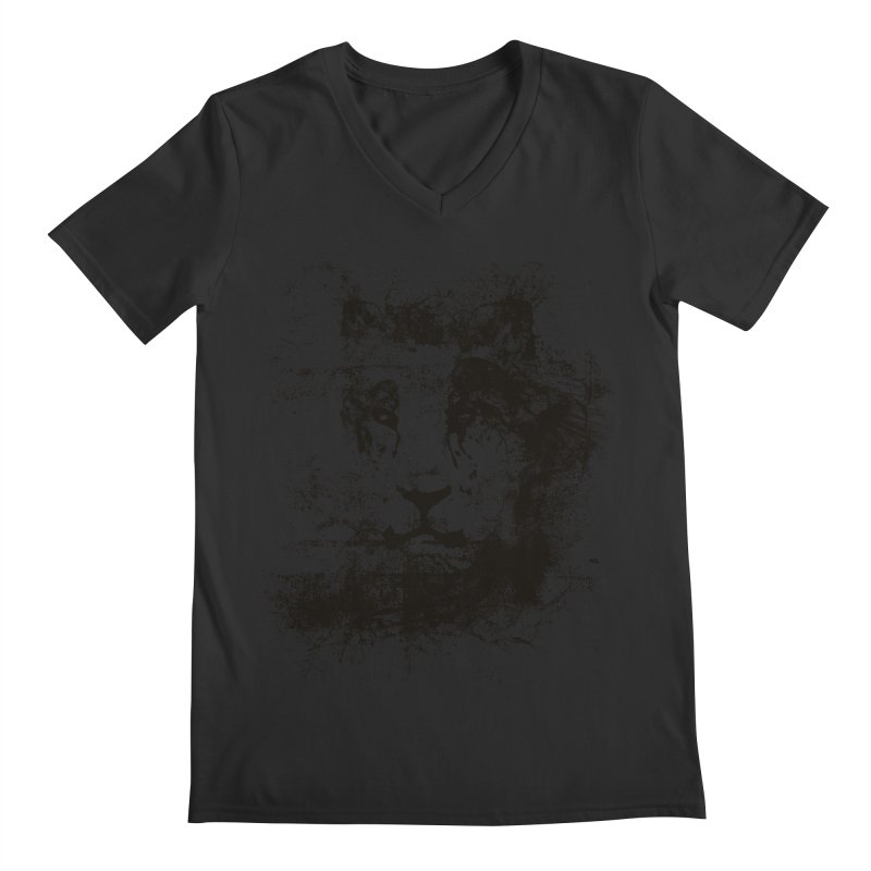 Ink Lion | On Sale!  ➔ Men's Regular V-Neck by The Mindful Tee