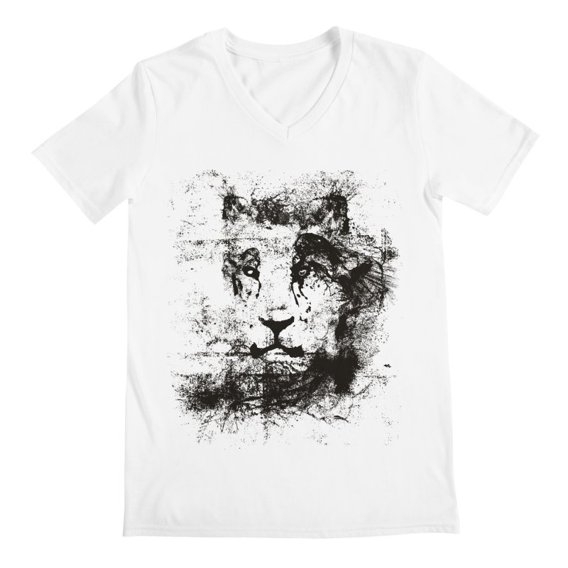 Ink Lion | On Sale!  ➔ Men's V-Neck by The Mindful Tee