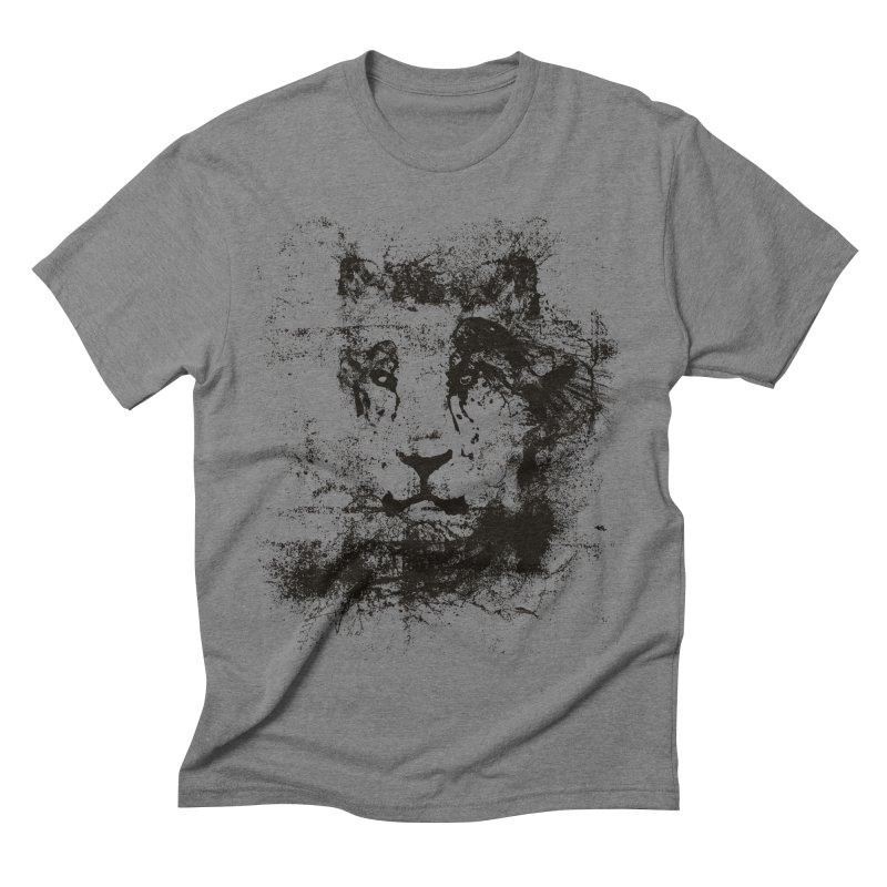 Ink Lion   On Sale!  ➔ in Men's Triblend T-shirt Grey Triblend by The Mindful Tee