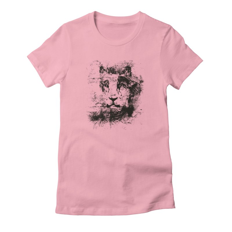 Ink Lion | On Sale!  ➔ in Women's Fitted T-Shirt Light Pink by The Mindful Tee