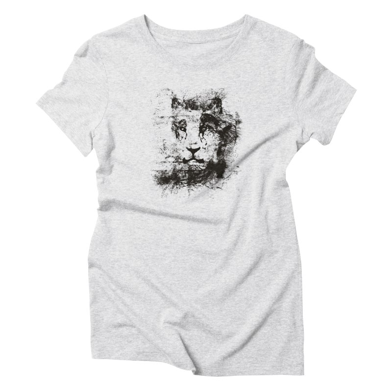 Ink Lion | On Sale!  ➔ in Women's Triblend T-Shirt Heather White by The Mindful Tee