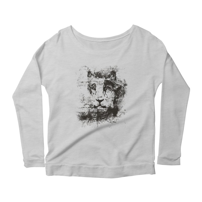 Ink Lion | On Sale!  ➔ Women's Longsleeve Scoopneck  by The Mindful Tee