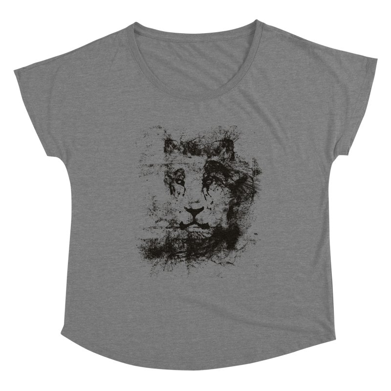 Ink Lion   On Sale!  ➔ Women's Scoop Neck by The Mindful Tee